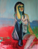 Living room painting by Katarzyna Nolbert-Presia titled Dawn