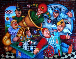 Obraz do salonu artysty Jacek Lipowczan pod tytułem Szalony kącik
