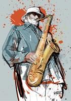 Grafika do salonu artysty Robert Konrad pod tytułem Jazzman