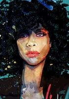 Grafika do salonu artysty Robert Konrad pod tytułem Erykah Badu