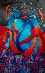 Obraz do salonu artysty Monika Mrowiec pod tytułem Impresja o królewskiej miłości