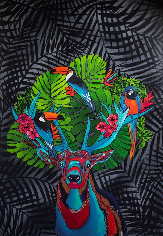 Obraz do salonu artysty Monika Mrowiec pod tytułem Wildlife