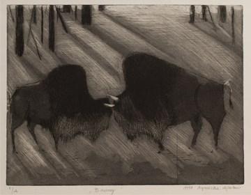 Obraz do salonu artysty Agnieszka Korczak pod tytułem Bizony