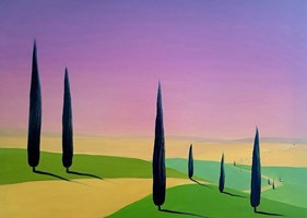 Living room painting by Jacek Malinowski titled Val d'Orcia V