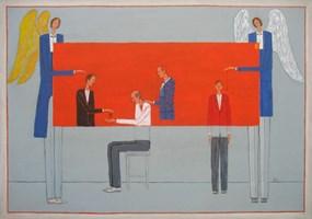 Obraz do salonu artysty Mikołaj Malesza pod tytułem Egzorcyzm