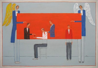 Obraz do salonu artysty Mikołaj Malesza pod tytułem Egzorcyzmy II