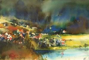 Obraz do salonu artysty Adam Papke pod tytułem Jesienią