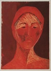Obraz do salonu artysty Agnieszka Korczak pod tytułem Portret czerwony