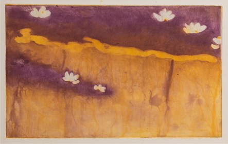 Grafika do salonu artysty Agnieszka Korczak pod tytułem Nenufary
