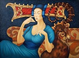 Obraz do salonu artysty Beata Krystek-Borkowska pod tytułem Wróżka