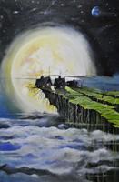 Obraz do salonu artysty Dariusz Franciszek Różyc pod tytułem Iluminatus cykl nie tak odlegle