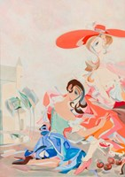 Obraz do salonu artysty Filip Gruszczyński pod tytułem Framboise Rhapsody