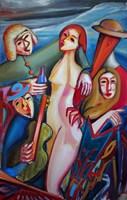 Obraz do salonu artysty Maciej Cieśla pod tytułem Lubiezne górskie Fauny