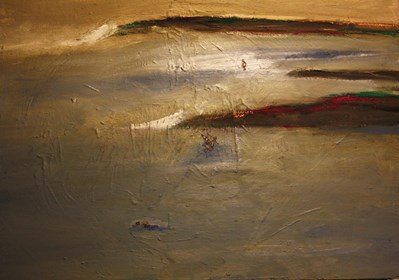 Obraz do salonu artysty Piotr Szwabe pod tytułem Mozesz mnie poznac nie zaznasz mnie nigdy rozmowa z kamieniem w szymborska