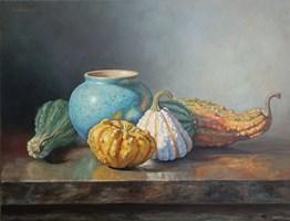 Obraz do salonu artysty Wojciech Piekarski pod tytułem Dynie