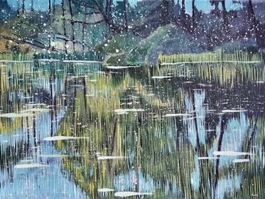 Obraz do salonu artysty Jacek Malinowski pod tytułem Paesaggio II