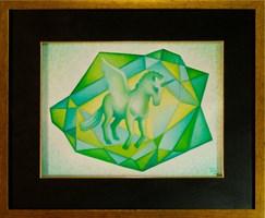 Obraz do salonu artysty Katarzyna Kania pod tytułem Krystaliczny Wymiar III