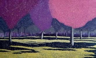 Obraz do salonu artysty Jacek Malinowski pod tytułem Z cyklu Arboretum-Rajskie Jabłonie
