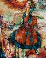 Living room painting by Krystyna Róż-Pasek titled Outflow