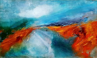 Obraz do salonu artysty Aneta Barglik pod tytułem Miedziane Wzgórza
