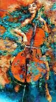 Obraz do salonu artysty Krystyna Róż-Pasek pod tytułem Dzwięki Żywiołów