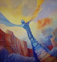 Living room painting by Piotr Horodynski titled Freedom