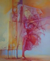 Living room painting by Piotr Horodynski titled Waiting II