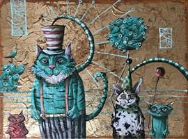 Obraz do salonu artysty Magdalena Rytel-Skorek pod tytułem Cyrkowcy