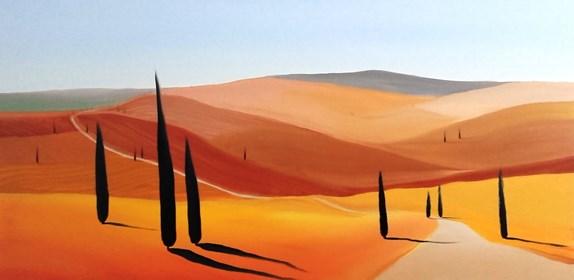Obraz do salonu artysty Jacek Malinowski pod tytułem Droga do San Qurico d'Orcia