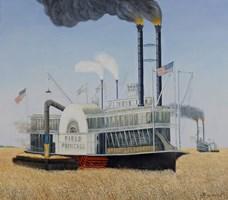 Obraz do salonu artysty Adam Swoboda pod tytułem Żniwa naWheat Belt