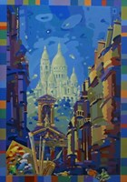 Living room painting by Aleksander Yasin titled Paris from the studio window
