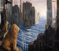 Obraz do salonu artysty Adam Swoboda pod tytułem Tam gdzie płaczą lwy