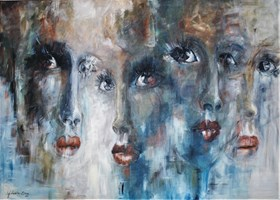 Living room painting by J. Aurelia Sikiewicz-Wojtaszek titled Venus