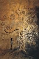 Living room painting by J. Aurelia Sikiewicz-Wojtaszek titled Adam and Eve