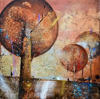 Living room painting by Alicja Kappa titled Forest