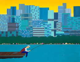 Obraz do salonu artysty Marek Konatkowski pod tytułem The City 3