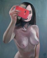 Obraz do salonu artysty Marcin Wilk pod tytułem Zwierciadło duszy