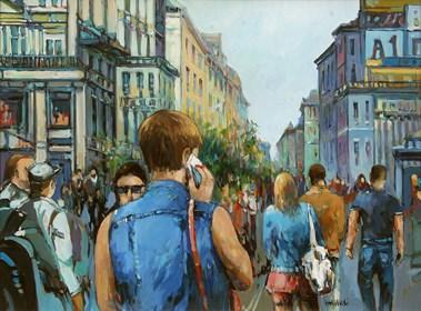 Obraz do salonu artysty Piotr Rembieliński pod tytułem Nowy Jork, SoHo