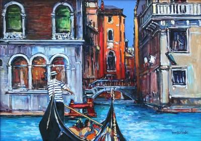 Obraz do salonu artysty Piotr Rembieliński pod tytułem Wenecja II
