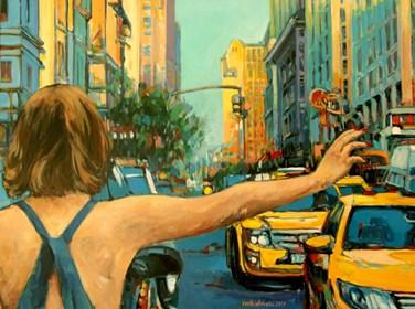 Obraz do salonu artysty Piotr Rembieliński pod tytułem Nowy Jork, Brooklyn