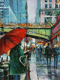 Obraz do salonu artysty Piotr Rembieliński pod tytułem Nowy Jork, The Village