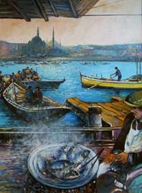 Obraz do salonu artysty Piotr Rembieliński pod tytułem Stambuł