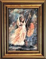 Living room painting by J. Aurelia Sikiewicz-Wojtaszek titled Ballet dancer III