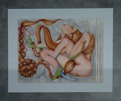 Living room painting by Iwona Wierkowska-Rogowska titled Tangled