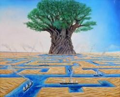 Obraz do salonu artysty Adam Swoboda pod tytułem Kanał Sueski