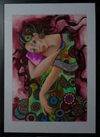 Living room painting by Iwona Wierkowska-Rogowska titled Colorful
