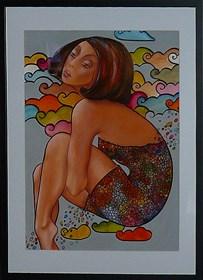Obraz do salonu artysty Iwona Wierkowska-Rogowska pod tytułem Bujanie w obłokach