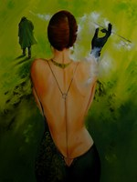 Living room painting by Iwona Wierkowska-Rogowska titled Don't cry