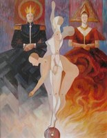 Obraz do salonu artysty Andrzej Wroński pod tytułem Pokaz