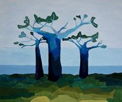 Obraz do salonu artysty Joanna Wróblewska pod tytułem Baobaby II